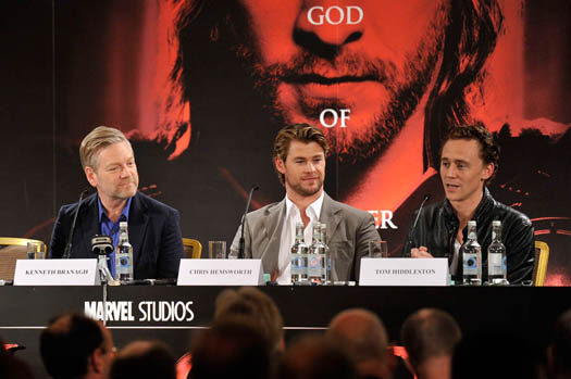Kenneth Branagh, Chris Hemsworth, Tom Hiddleston