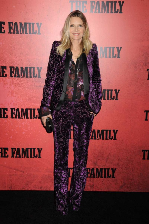 Actresses arrive for the World Premiere of 'THE FAMILY' in NYC