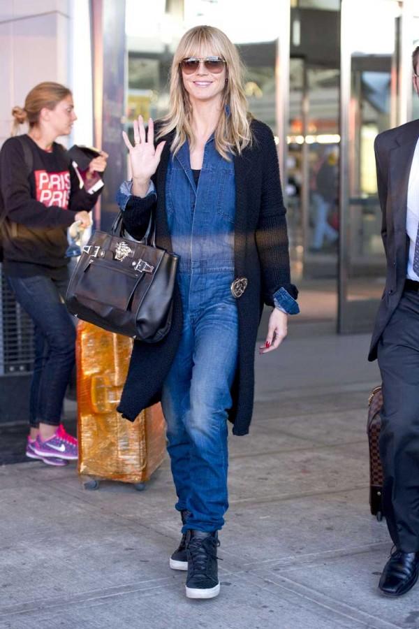 Heidi Klum says hello to the Big Apple