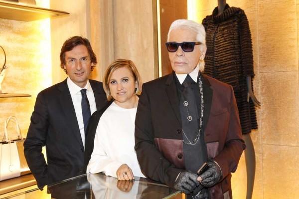Pietro Beccari; Silvia Venturini Fendi; Karl Lagerfeld