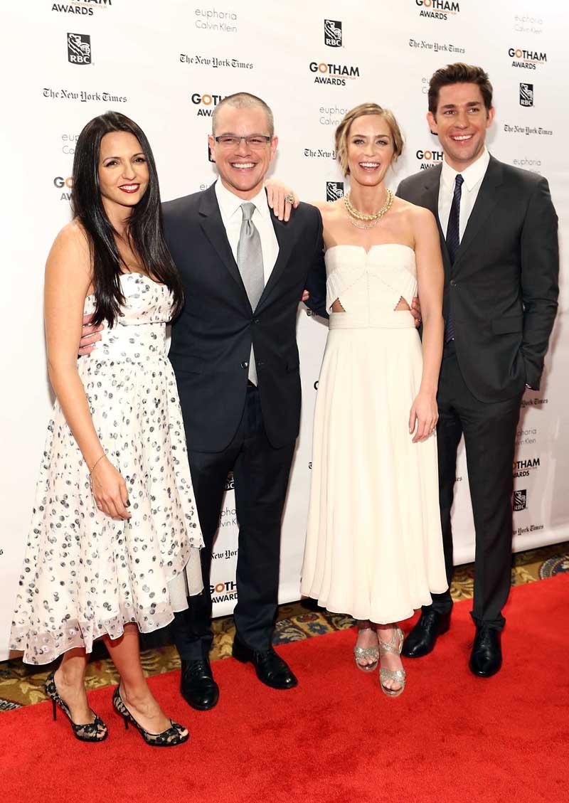 Emily Blunt & John Krasinski, Matt Damon