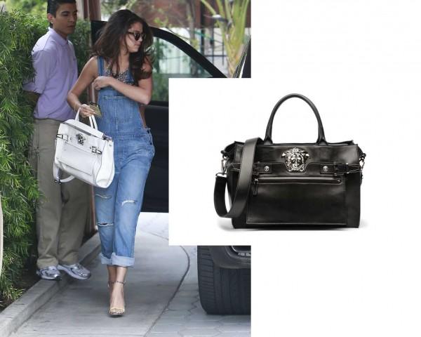 Selena Gomez white Versace palazzo bag2