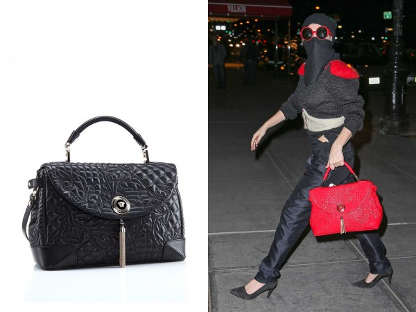 lady gaga with red versace bag2