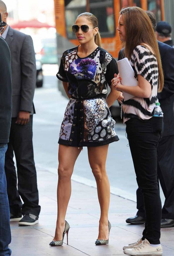 """Jennifer Lopez arriving at """"American Idol"""" Auditions"""
