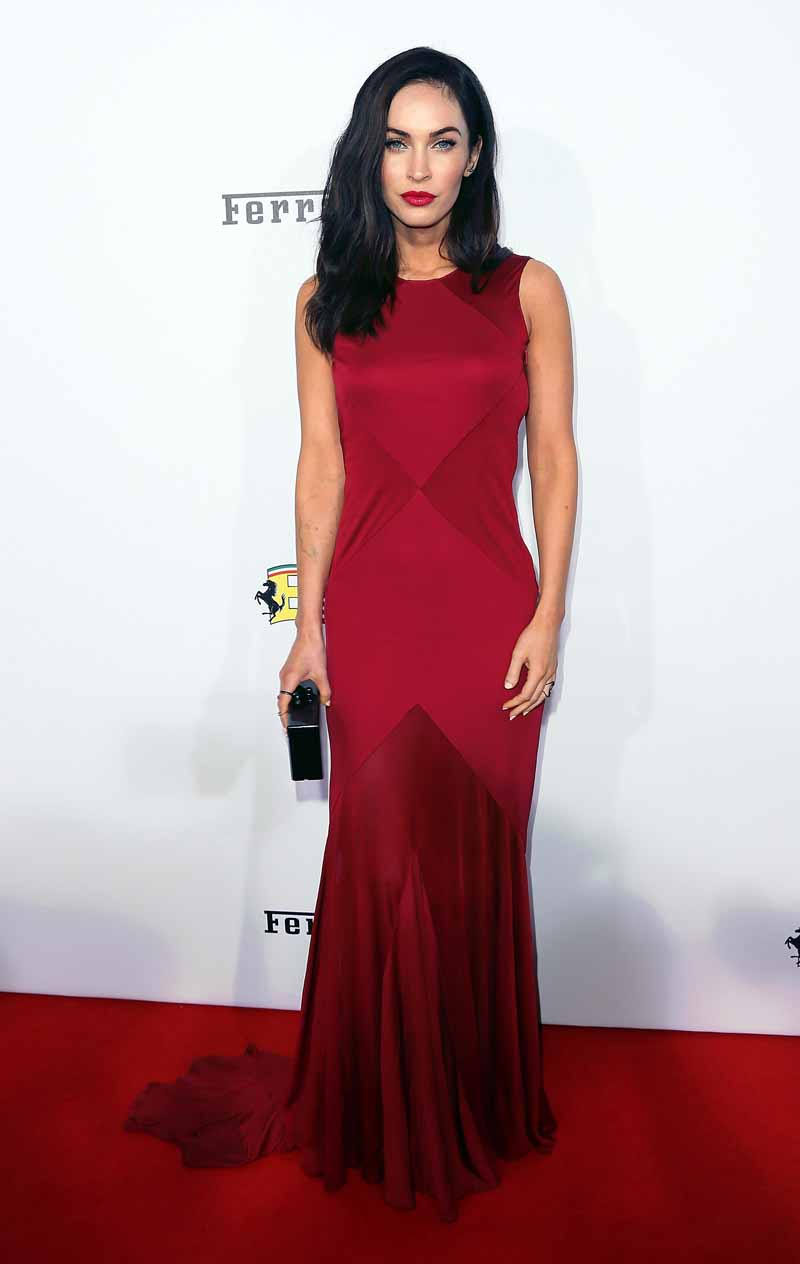 Megan Fox Wears Versace At Ferrari 39 S 60th Anniversary