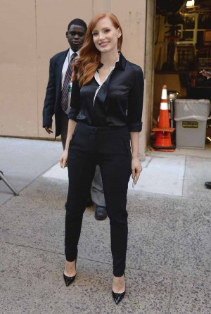 Jessica Chastain in Givenchy good morning america