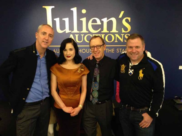 dita von teese at juliens auctions