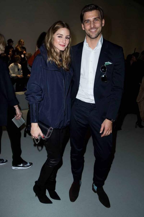 Olivia Palermo and Johannes Huebl in Akris01