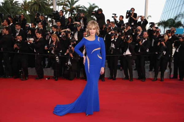 "CANNES, FRANCE - MAY 16:  Jane Fonda attends the Premiere of ""The Sea Of Trees"" during the 68th annual Cannes Film Festival on May 16, 2015 in Cannes, France.  (Photo by Andreas Rentz/Getty Images)"