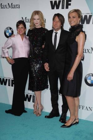 Cathy Shulman in Max Mara;Nicole Kidman;Keith Urban;Nicola Maramotti in Max Mara