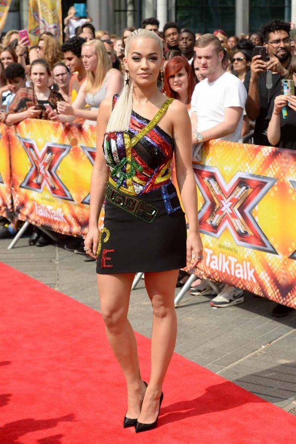Rita Ora arriving at the X Factor auditions held at Wembley Arena in London.