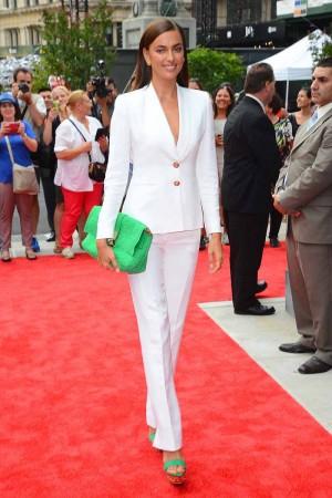 Irina Shayk Goes to The Porcelanosas Store Opening