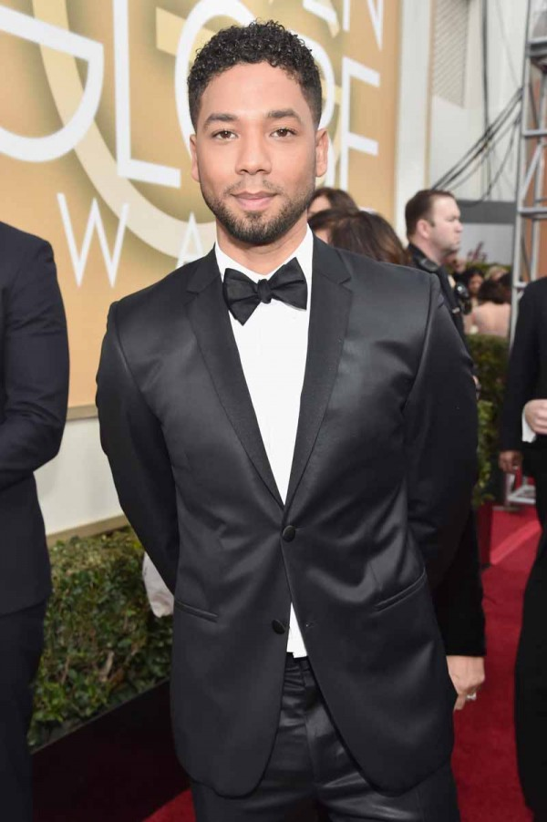 BEVERLY HILLS, CA - JANUARY 10:  73rd ANNUAL GOLDEN GLOBE AWARDS -- Pictured: Actor Jussie Smollett arrives to the 73rd Annual Golden Globe Awards held at the Beverly Hilton Hotel on January 10, 2016.  (Photo by Alberto Rodriguez/NBC/NBCU Photo Bank via Getty Images)