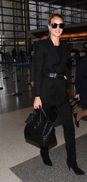 Rosie Huntington Whiteley Versace Empire Bag