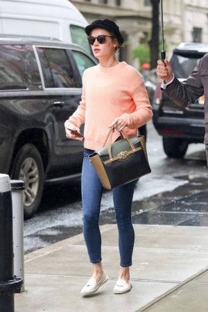 Brie Larson goes incognito while out and about in the upper east side in New York City