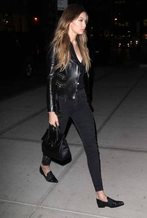 Gigi Hadid leaves a photo shoot in NYC