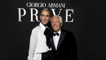 Celine Dion and Giorgio Armani