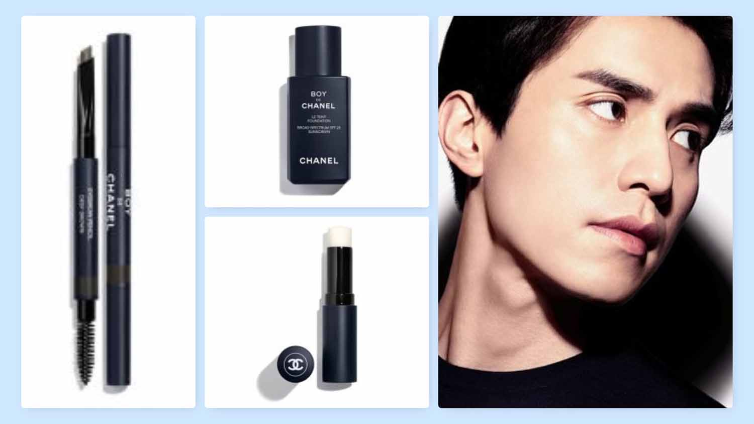 04cca472e7091d Lee Dong-Wook Is the Face of the New Boy de Chanel Makeup Collection ...