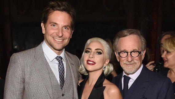 radley Cooper, Lady Gaga, and Steven Spielberg