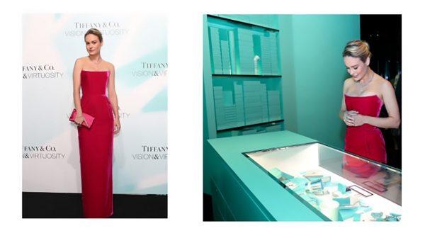 Brie Larson wearing Tiffany & Co